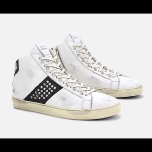 Iconic Stud High Top Sneakers by Leather Crown